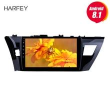 Harfey 10,1 «HD сенсорный экран радио gps навигации системы Android 8,1 для 2013 2014 2015 Toyota Corolla SWC Bluetooth DVR Carplay