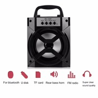 MS 134BT Wireless Bluetooth Speaker Multimedia Mobile Loudspeaker USB 3 5mm FM Radio Subwoofer With TF