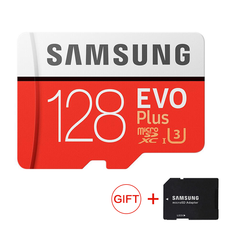 SAMSUNG Micro SD Cartão De Memória de 128 GB EVO Mais Class10 Memoria TF Cartão Sim Para telefones inteligentes 128g À Prova D' Água original 95 MB/s