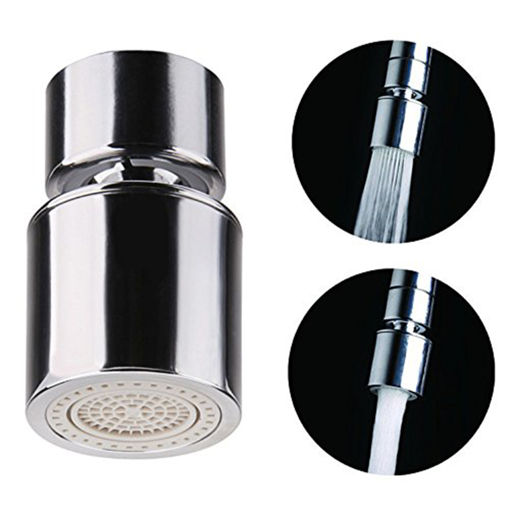 Copper Certified Dual Function 2 Flow Kitchen Sink Aerator 360-Degree Swivel Faucet Sprayer Shower Aerators