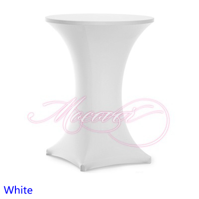 White Spandex Table Covercocktail Table Clothlycra High Bar Table