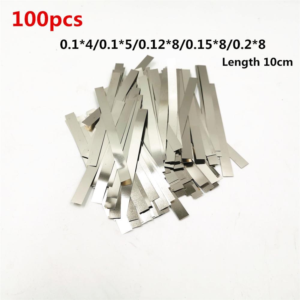 100pcs Nickel Plated Steel Strip Nickel Plate Strap Strip Sheets For 18650 Battery Spot Welding Machine Welder /Spot Welder
