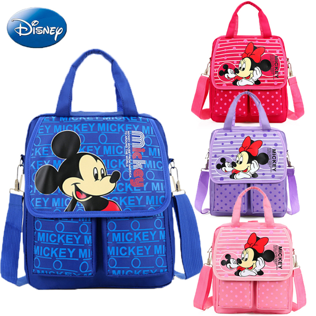 2b1c2797e2 4Way Disney Kid s Backpack Mickey Minnie Mouse Girls Crossbody Shoulder Bag  Cute Cartoon Children Hand School Bag Travel Handbag