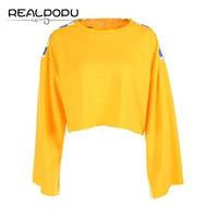 Realpopu Loose Casual Plaid Patchwork T Shirt Long Sleeve Crop Top Tees Oversize T Shirt Women