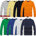 Polo 2016 otoño suéter hombres camiseta slim fit algodón hombres suéter del o-cuello suéteres sólidos de asia tamaño s-xxl 8 colores