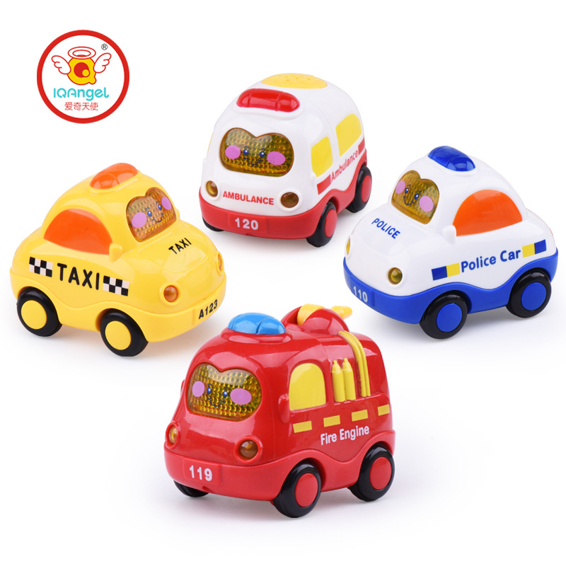 1Pcs Cartoon Inertia Car Toys Musical and Glowing Car Interesting and novelty Inertia Toys Birthday and Christmas Gift For Kid