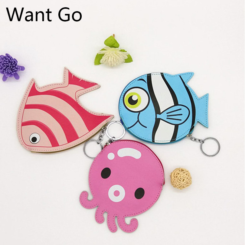 Want Go Waterproof Zipper Women Coin Purse Cute Animal Children Small Coin Bag Ladies Mini Purse Wallet Portable Small Pouch