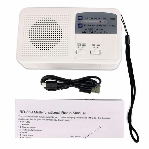Hot Sale FMAM Radio Solar Flashlight (2)