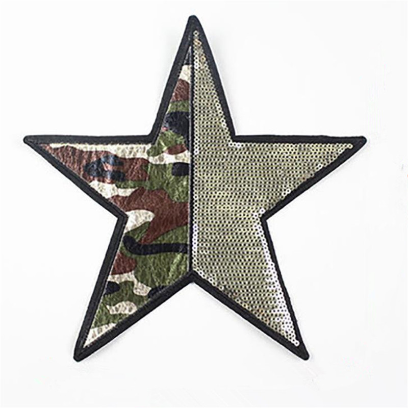 Diplomatic Fashion Tops Shirt Girl Patch Clothes 21cm Camouflage Star Street Icon Sequins Deal With It Patches For Clothing T Shirt Women Famous For High Quality Raw Materials And Great Variety Of Designs And Colors Full Range Of Specifications And Sizes