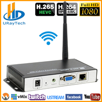 HEVC H.265 H.264 Wireless VGA To LAN Encoder VGA Over WiFI Streaming Encoder VGA Transmitter With UDP RTMP RTSP