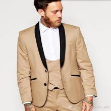 New suit suits Custom Made Dark Gold Men's Groom Suit Tuxedos Formal Groomsmen Wedding Suits