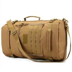 Image 5 - Uomini e donne zaino da viaggio zaino da viaggio grande capacità zaino 60 l borsa appassionati di militari antiusura nylon impermeabile