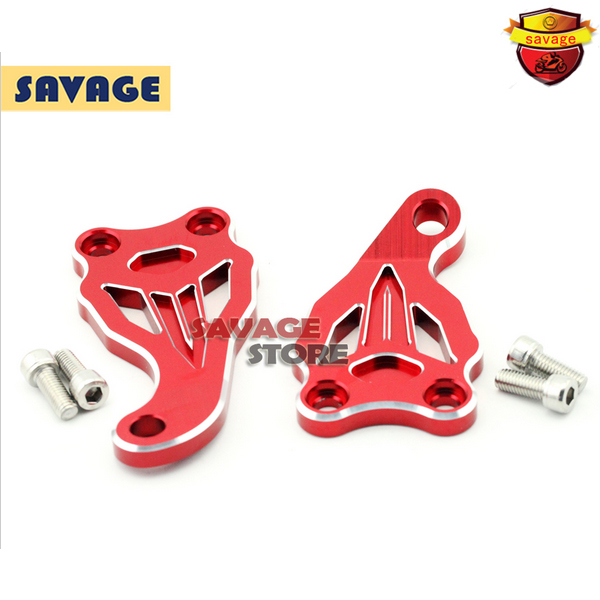 Motorcycle Accessories Fixed Frame and Engine Mounting Bracket Slider Cover For YAMAHA MT07 FZ07 MT-07 FZ-07 2014-2016 Red for yamaha mt 07 fz 07 2014 2015 2016 motorcycle accessories engine cover frame slider crash protector mt07 fz07