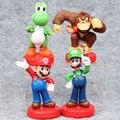 Super Mario 4 unids/set Bros Mario Luigi Yoshi PVC Figura de Acción de Colección Modelo de Juguete 9-10 cm Figura Juguetes muñecas
