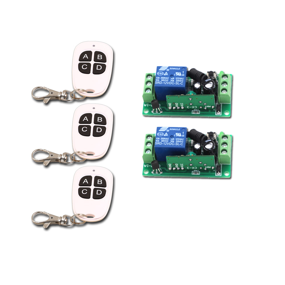 White and Black RF Wireless Remote Control Switch System 1CH 3Transmitter & 2Receiver Relay Receiver Control Distance 150M New 2receiver page 6