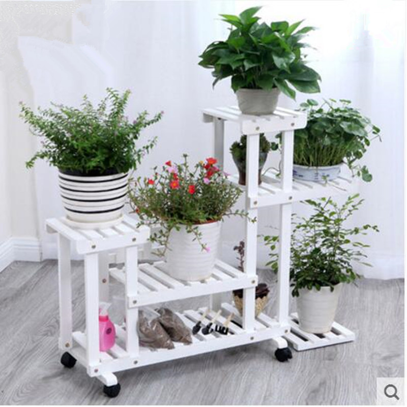 35 Rak Kayu Tempat Pot Bunga Paling Baru
