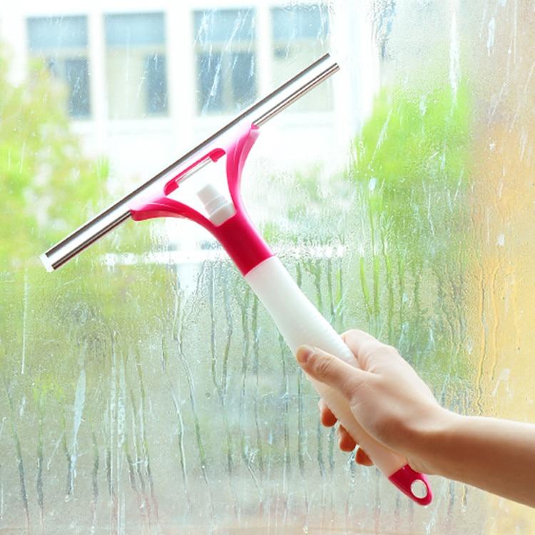 Aerosol rasqueta para cristal herramientas de limpieza de ventanas de vidrio lim
