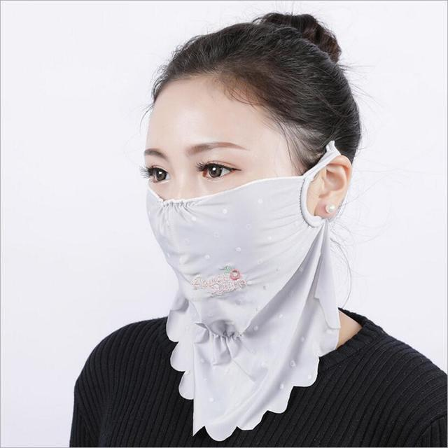 NEW Summer Spring neck protection face mask sun protective Shade anti-dust mouth mask silk Mouth-muffle Mask Flu Face masks