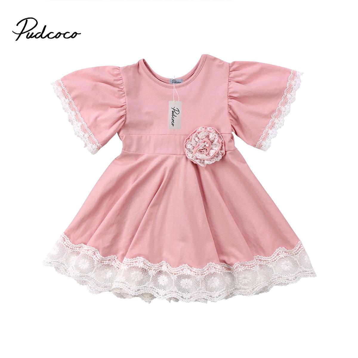 Пышное Платье принцессы Детское платье для маленьких девочек Кружево Цветочные партия Летняя новинка; Платье Необычные Сарафан