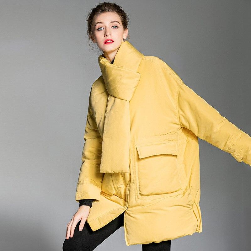 Neige D'hiver Canard Duvet La66 Lâche Grande Qualité Européenne 2019 Vêtements 90 Femmes Oversize Parka jaune Noir Taille Blanc De Porter Veste Supérieure Manteau Chapeau XTpxq8w