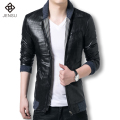 2016 Men Leather Jacket Plus Size Blazer Coat Leather Jacket Men Casual Blazer Jaqueta Masculinas Inverno Winter Mens Jackets
