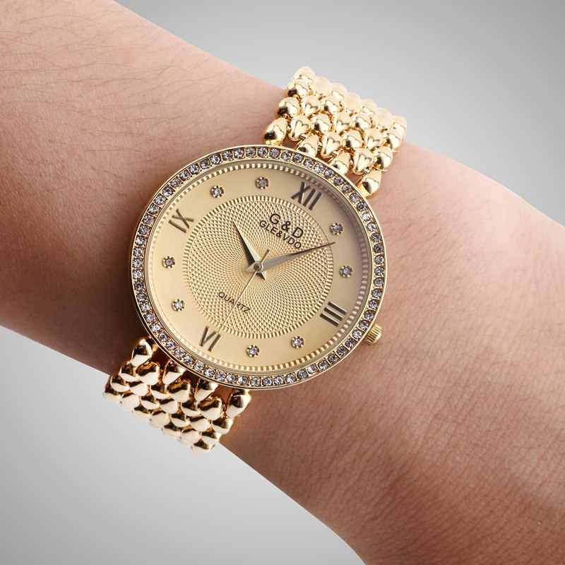 2018 новый бренд Relogio Feminino часы женские часы из нержавеющей стали женские модные повседневные часы кварцевые наручные женские часы