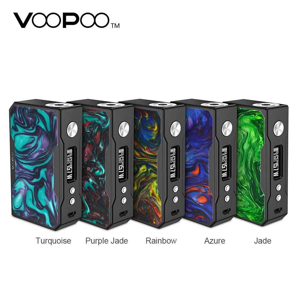 D'origine VOOPOO Noir Glisser Résine 157 W TC Boîte MOD avec Max 157 W Puissance de Sortie et Innovante Super Mode E-cig Vape Mod Pas batterie