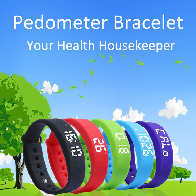 3D LED Calorie Pedometer Sport smart Bracelet Wrist Watch wearable devices smart