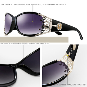 Image 3 - PARZIN Luxury Sunglasses Women Designer Vintage Polarized Ladies Sun Glasses For Women Hollow Lace Female Glasses For Driving