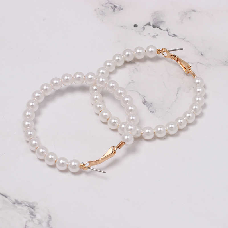 FASHIONSNOOPS New Sea Shell Pendant Earrings Gold Statement Earrings For Women Weddings Party Irregular Geometric Jewelry Gift