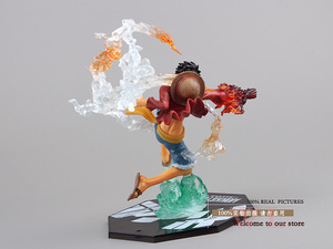 """Image 4 - Free Shipping 7"""" One Piece Monkey D Luffy Battle Ver.  Boxed PVC Action Figure Collection Model Toy Gift OPFG228"""
