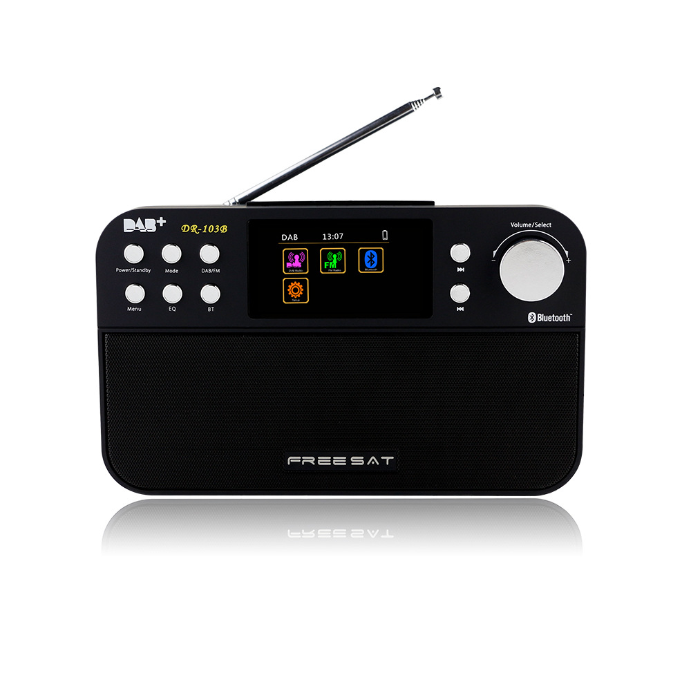 Freesat DR-103 DAB+/FM RDS Wavebands Radio Receiver 2.4 TFT-LCD Color Display Digital Radio gtmedia dr 103b dab bluetooth receiver portable digital dab fm stereo radio receptor with 2 4 inch tft color display alarm clock