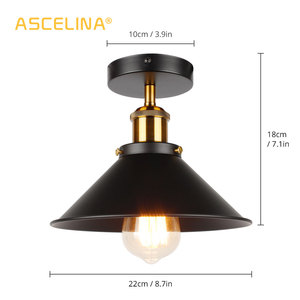 Image 4 - ASCELINA LED Industrial Ceiling Lamp Vintage Chandelier Retro Attic Interior Lighting American Country Restaurant Bedroom Lights