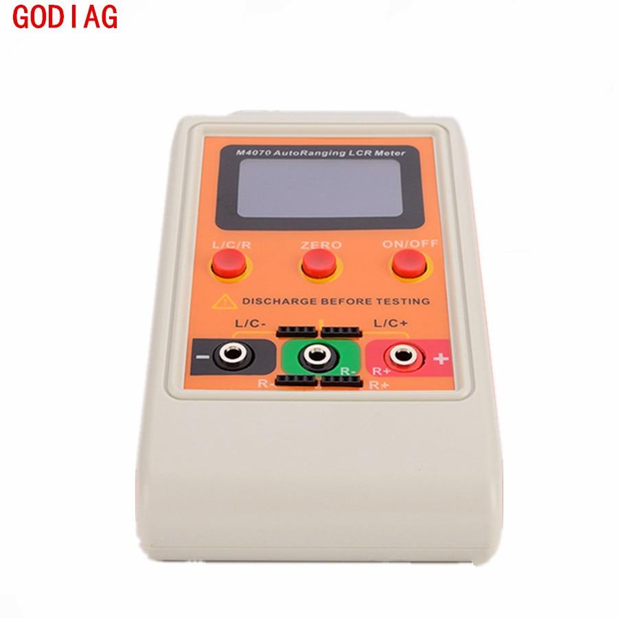 Цена за M4070 автоматический выбор диапазона LCR метр ЖК-дисплей Перезаряжаемые цифровой емкость LC RC колебаний автоматический измерительный прибор Перезаряжаемые