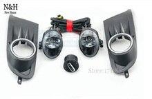 Für vw golf 6 mk6 nebelscheinwerfer Lampe + 2 Stücke Gitter + Kabelbaum + scheinwerfer switch control nebelscheinwerfer für VW MK6 2010-2014