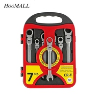 Hoomall 7pcs Wrench Car Repair Tool Ratchet Handle Set Universal Torque Wrench Combination Professional Hand Tools