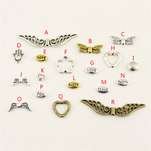 20Pcs Wholesale Bulk Diy Jewelry Accessories Heart Beads Hand Made Charms Charm Women Backless Dress HK092