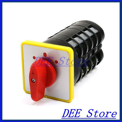 AC 500V 16A LW5D-16 3 Position Self-Locking Rotary Cam Changeover Switch ui 500v ith 16a 3 position changeover rotary cam switch w led indicator lamps