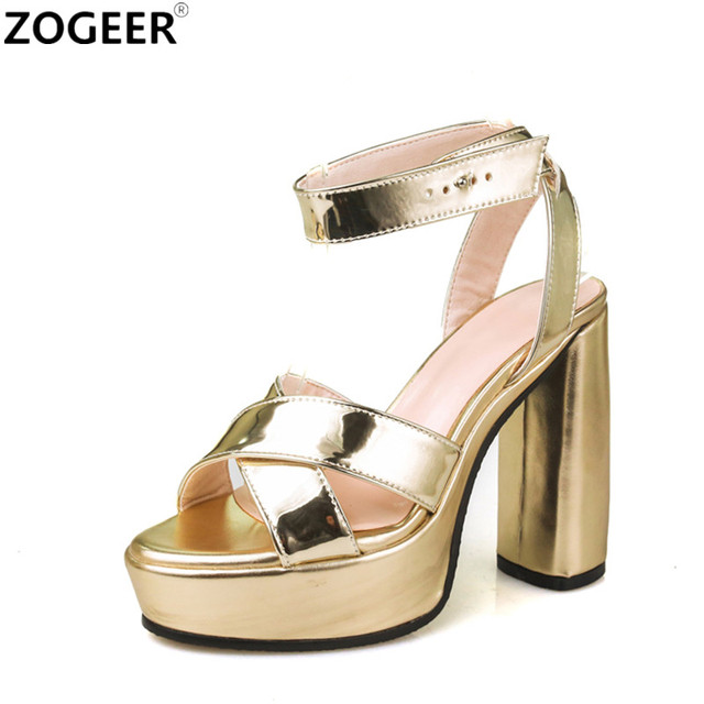 For Women Buckle Strap And Platform Peep Toe Shoes