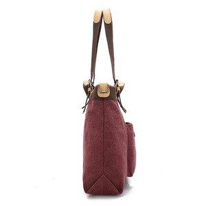 Image 3 - Kvky 春の新作秋のキャンバス女性のバッグハンドバッグメッセンジャーバッグレディース hig 品質ショルダーバッグ有名なブランドクロスボディバッグボルサ
