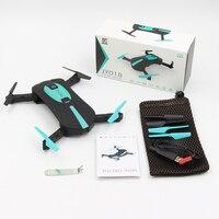 RND JY018 Mini Portatile Selfie Drone con la Macchina Fotografica WIFI FPV Mantenimento di Quota Senza Testa Pieghevole RC Quadcopter Drone per I Bambini Christams