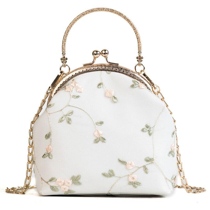 Lace Women Bag 2018 Summer Fashion New Handbag High Quality PU Leather Sweet Tote Bag Chain Portable Shoulder Bag Travel Bags