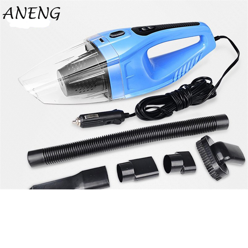 Car Vacuum Cleaner 120W Portable Handheld Vacuum Cleaner Wet and Dry Dual Use Car Vacuum Aspirateur Voiture 12White Clear Blue ...