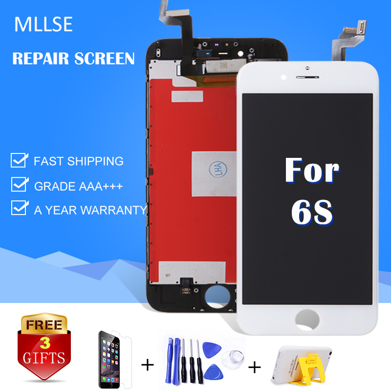 1 PZ Lcd Per iPhone 6 Più 6G 5 S 5G 5C 4 4 S Display LCD Pantalla Touch Screen Digitizer Assembly di Ricambio AAA Senza Dead Pixels