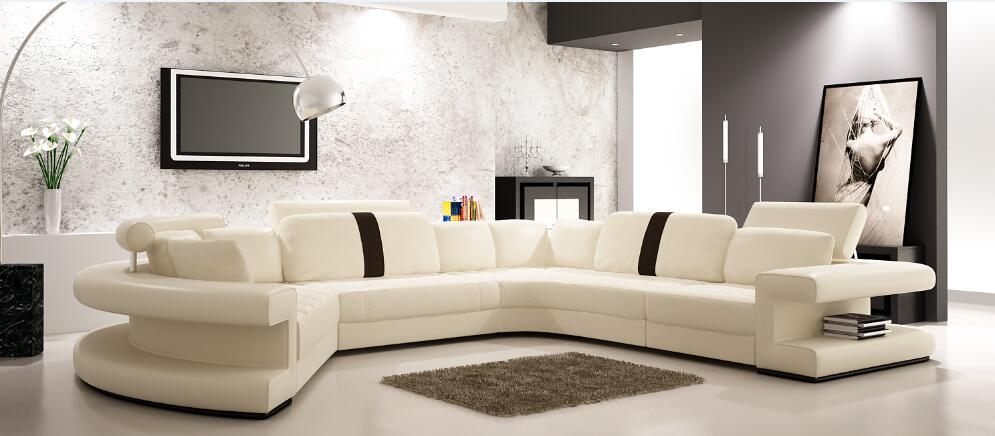 US $1398.0 |Modern large corner sofas with leather Sofa-in Living Room  Sofas from Furniture on AliExpress