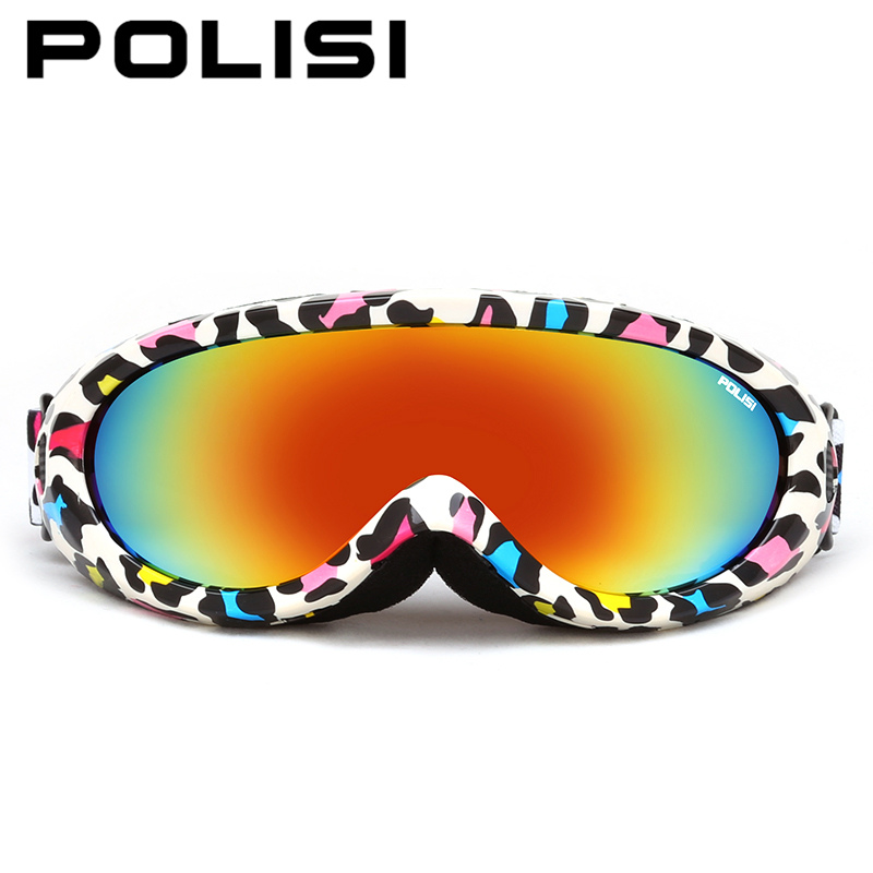 POLISI Для мужчин Для женщин лыжи сноуборд очки UV400 Спорт на открытом воздухе ветрозащитный мотоцикл скейт Очки зима Анти-туман Очки для лыжног...