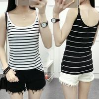 2017 Summer Europe And The United States Sleeveless Women's Harness Sexy Stripes Tank Tops