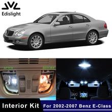 Edis светильник 17 шт. светодиодные лампы canbus автомобильная лампа внутренняя посылка комплект для 2002-2007 Mercedes Benz E-Class W211 карта купольная дверная пластина светильник