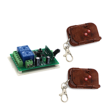 DC 24V Wireless Remote Control Switch 2CH Relay Receiver Remote Control ON/OFF Teleswitch for Gate/Door 315Mhz 433Mhz