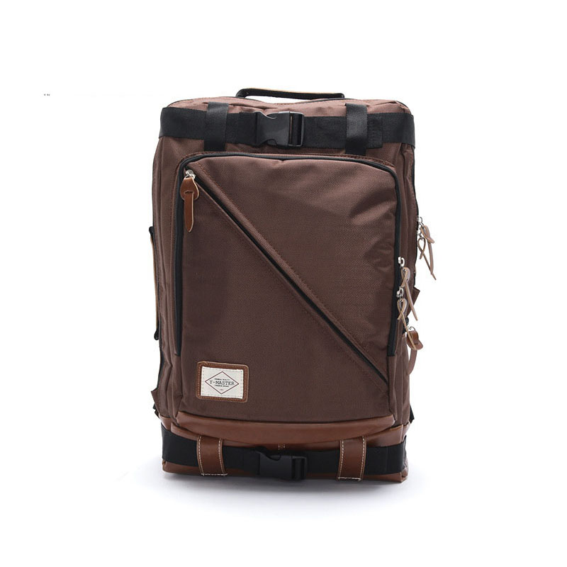 Men's Korean fashion zipper nylon shoulder bag wear, burden, waterproof, anti-theft, shock, breathable creative casual nylon men 3